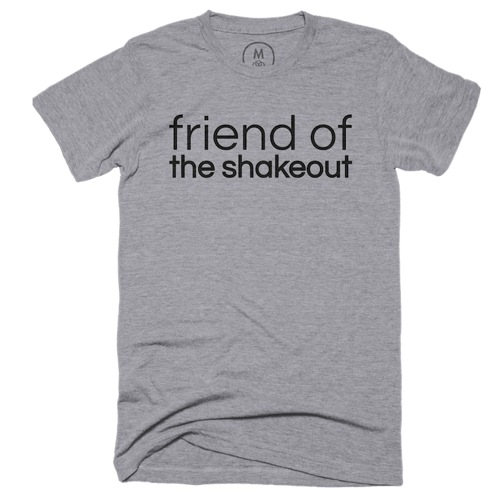 friend of the shakeout tee shirt